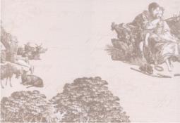 Панно Керамин Пастораль 3 тип 2 Бежевый 40x27,5
