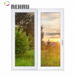 Окно раздвижное Rehau 2100x2000 двухстворчатое ПР1000/ЛГ1000 2 стеклопакет