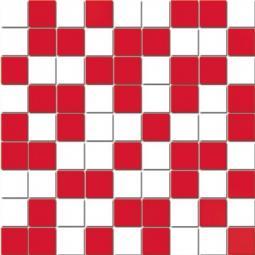Мозаика Lasselsberger Азур бело-красная 30х30