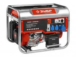 Генератор бензиновый ЗУБР ЗЭСБ-5500-Э 5000/5500 Вт ручной/электрический запуск