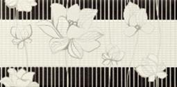 Декор Lasselsberger Токио черно-белый 19,8x39,8