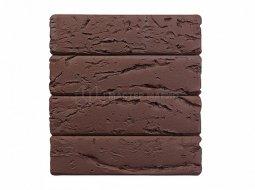 Кирпич лицевой керамический «Темный Шоколад» «Кора дерева» пустотелый Евро одинарный