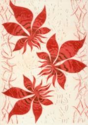 Декор Береза-керамика Магия фантазия бордовый 25х35