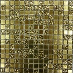 Мозаика Bonаparte Shik Gold-1 золото глянцевая 32.7х32.7
