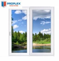 Окно раздвижное PROPLEX 2100x2000 двухстворчатое ЛР800/ПГ1200 3 стеклопакет