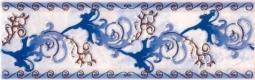 Декор Магия Фриз синий 25х35