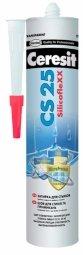 Затирка-герметик Ceresit СS 25 силиконовая с усиленным противогрибковым эффектом жасмин (280мл)