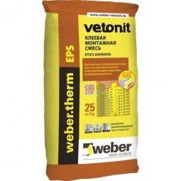 Клеевая смесь Weber.Vetonit Term EPS для монтажа пенополистирола 25 кг