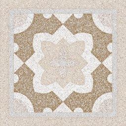 Плитка для пола Сокол Супер Гранит SG2 орнамент полуматовая 44x44