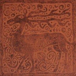 Плитка для пола Сокол Родос RDS611-1 коричневая матовая 33х33