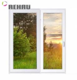 Окно раздвижное Rehau 2100x2000 двухстворчатое ПР800/ЛГ1200 3 стеклопакет