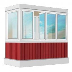 Остекление балкона ПВХ Rehau 2.4 м Г-образное