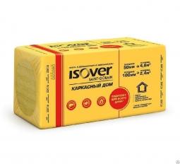 Минераловатный утеплитель Isover Каркасный Дом 1000х600х50 мм / 8шт.
