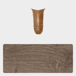 Внутренний угол Т-пласт 86 мм с центральной съемной панелью Дуб Темно-серый