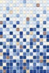 Плитка для стен Пиастрелла Меланж ПО переход люкс синяя 28х40