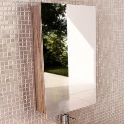 Шкаф-зеркало Comforty Диана-50 эбони светлый