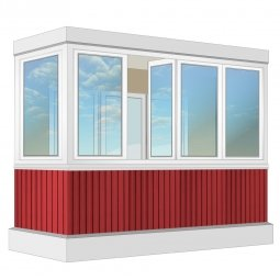 Остекление балкона ПВХ Veka 3.2 м Г-образное