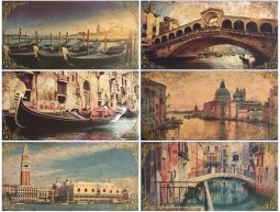Панно Ceramica Latina Venezia Conjunto 6 pz 75x100