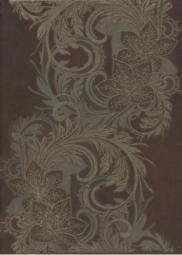Декор Береза-керамика Богема ампир коричневый 25x35