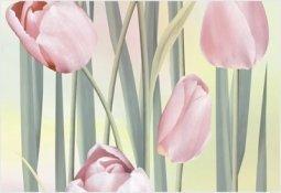 Вставка Уралкерамика Рефлекс тюльпаны ВС7РТ125 24.9x36.4