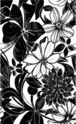 Декор Нефрит-керамика Кураж 2 04-01-1-09-00-04-084-0 40x25 Чёрный