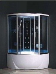Душевая кабина Aulica ALC-91120G-Black 1200х1200х2180 мм черная с парогенератором