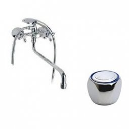 Смеситель для ванны Zerich Луна SBZC 1205 двуручный с аксессуарами