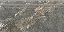 Ступени Kerranova Genesis полированный темно-серый 29.4x60