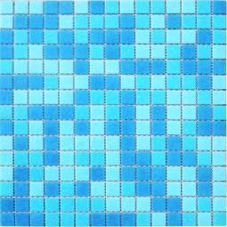 Мозаика Elada Econom на сетке MCD002 бело-голубой 32.7x32.7