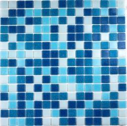 Мозаика Bonаparte Aqua 100 (на бумаге) голубая матовая 32.7х32.7