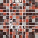 Мозаика Elada Crystal JSM-CH1024 терракотовый полосатый микс 32.7x32.7