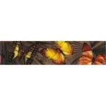 Бордюр Керамин Тропикана 3БШ бабочки 6.2х27.5