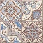 Плитка для пола ВКЗ Севилья коричневая пэчворк 40х40