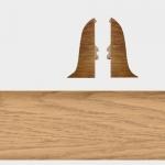Заглушка левая и правая Т-Пласт 058 Ясень Натуральный 58мм (2шт)