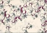 Декор Береза-керамика Азалия бордовый 25x35