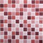 Мозаика Bonаparte Plum mix красная глянцевая 30x30