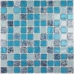 Мозаика Bonаparte Breeze голубая глянцевая 30x30