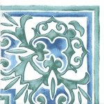 Декор Kerama Marazzi Византия 1/4 A2257\1146 9.9х9.9