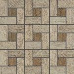 Мозаика Kerranova Timber структурированный ольха 30x30
